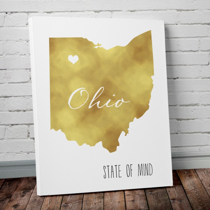 ohio gold foil art