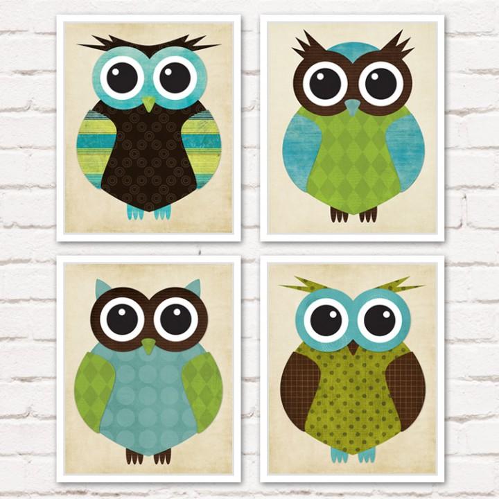 owl_green_turquoise_set_1