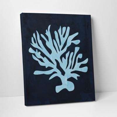 pale blue coral canvas art