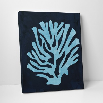 pale blue coral print