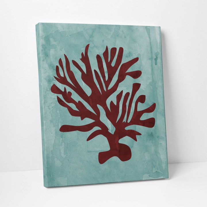 red coral canvas print