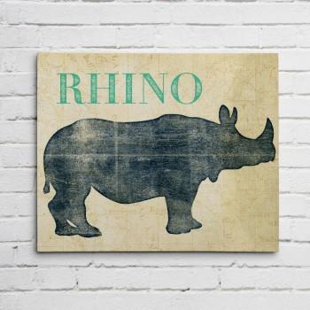 rhino wall art