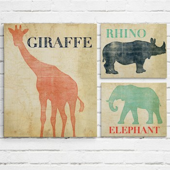 safari wall art set