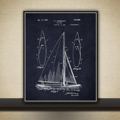 sailboat wall art