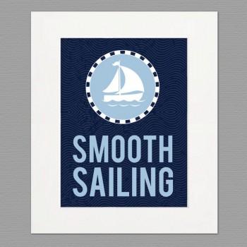 sailing white frame art