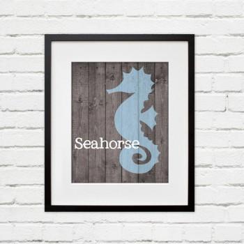 seahorse wall art