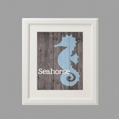 seahorse white frame