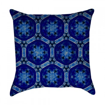 shades of blue pillow cover