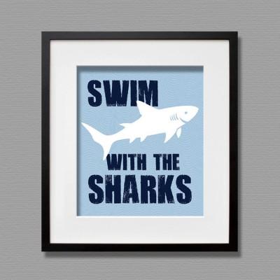 sharks wall art