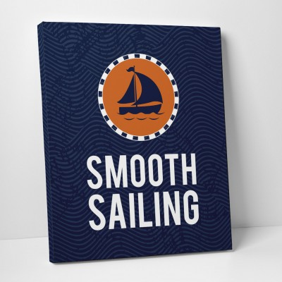 smooth sailing canvas print
