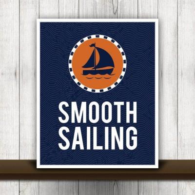 smooth sailing print