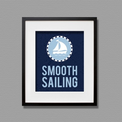 smooth sailing wall art