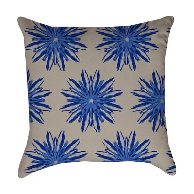 starburst flower pillow cover