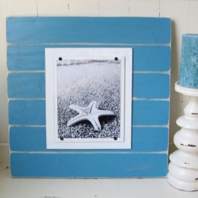 starfish plank frame blue