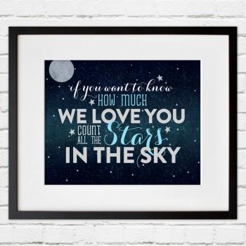 stars in the sky print
