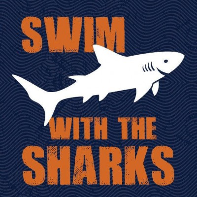 swim with the sharks print