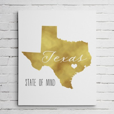 texas gold wall hanging