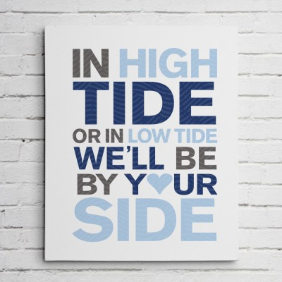 tide wall art canvas