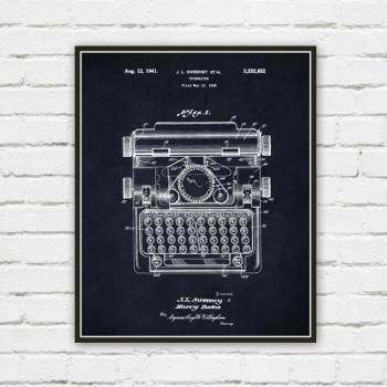 typewriter wall art