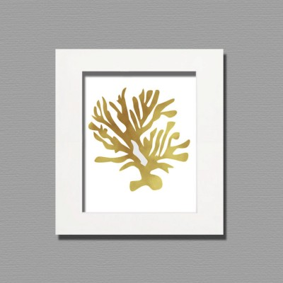 wall frame art gold leaf