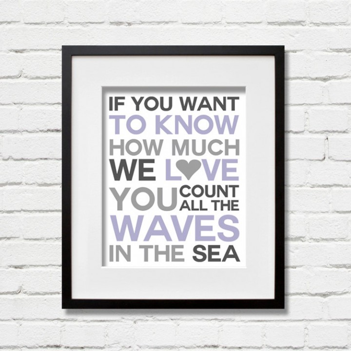 waves purple print