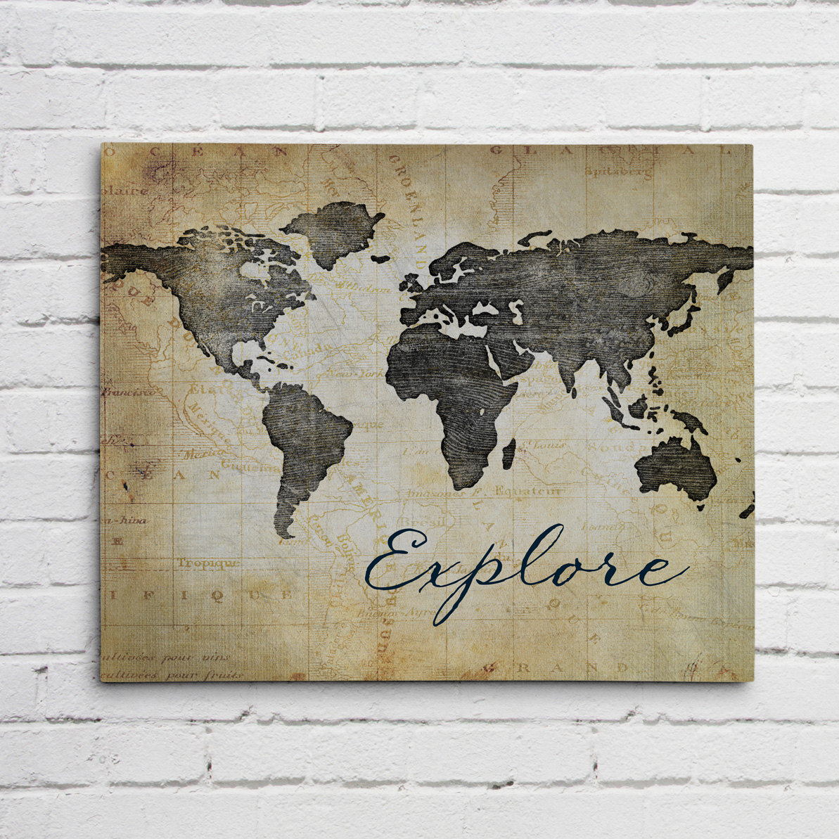 World map canvas or graphic print world map canvas print gumiabroncs Image collections