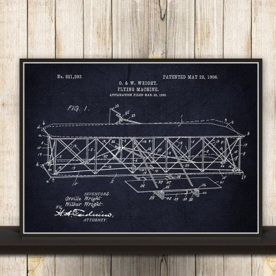 wright brothers wall print