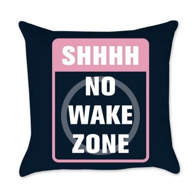 No Wake Zone Pillow Cover