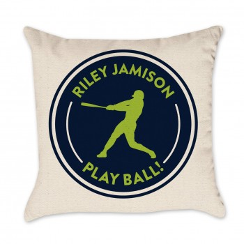 Personalized Baseball Pillow Cover