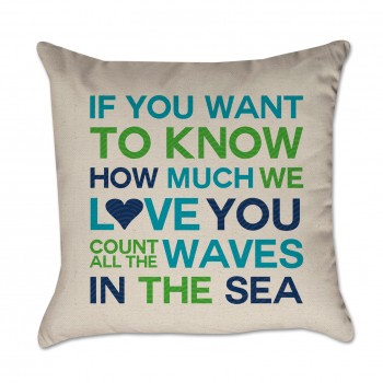 Count the Waves Pillow Cover