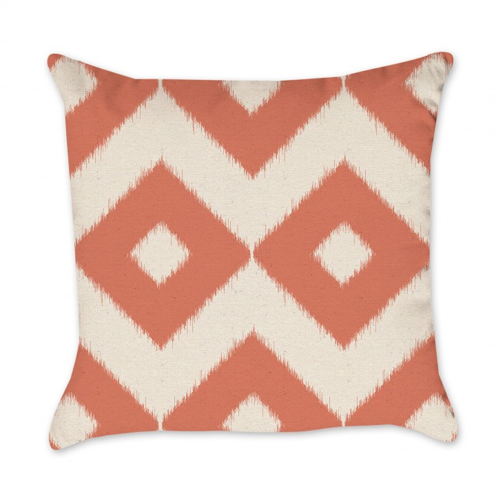 pillow_cotton_nat_ikat_diamonds_coral_1