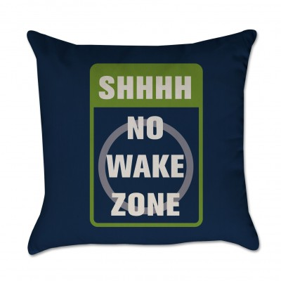 No Wake Zone Pillow Cover