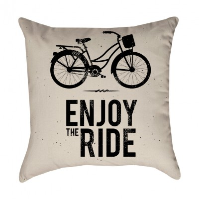Enjoy the Ride Bicycle Pillow Cover