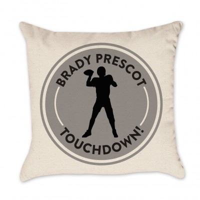 Personalized Football Pillow Cover