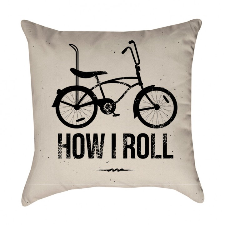 How I Roll Bicycle Pillow Cover