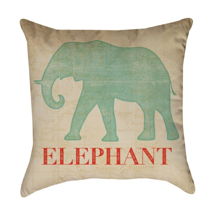 Safari Animal Elephant Pillow Cover