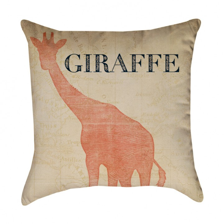 Giraffe Safari Animal Pillow