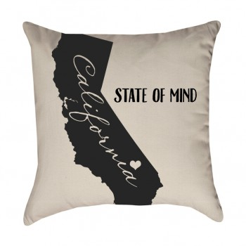 California State of Mind Pillow Cover