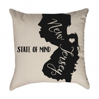 New Jersey State of Mind Pillow Cover
