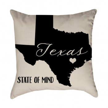 Texas State of Mind Pillow Cover