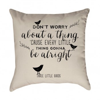 Three Little Birds Pillow Cover