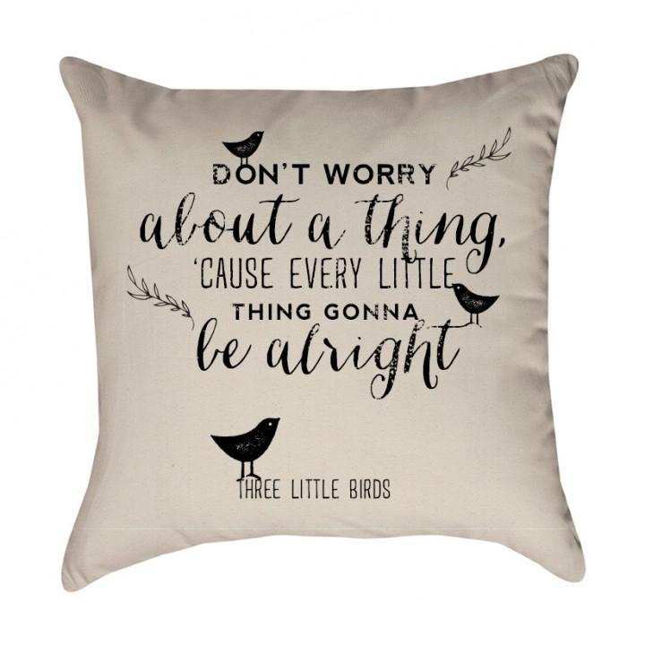 Three Little Birds Pillow Cover