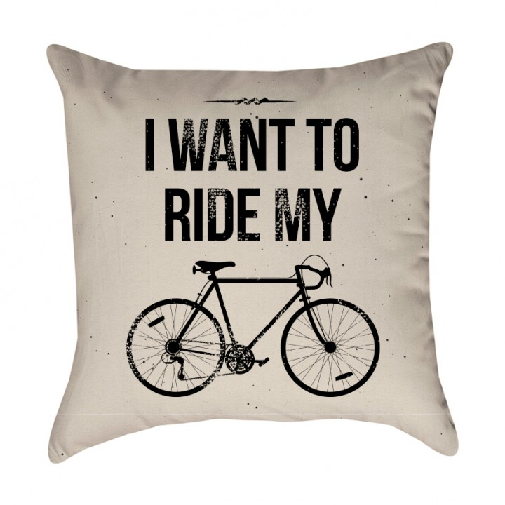 I Want to Ride My Bicycle Pillow Cover
