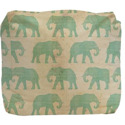 Elephant Pouf Ottoman