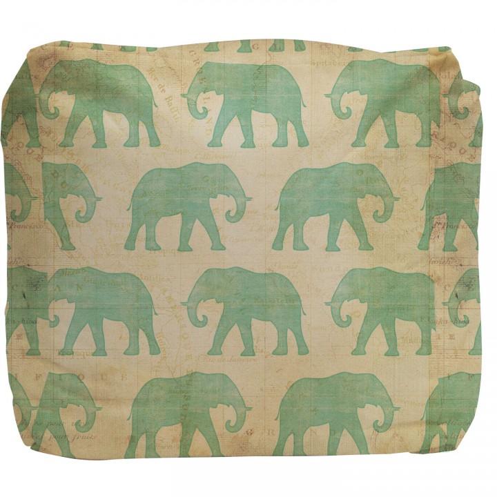 Safari Elephant Pouf Ottoman