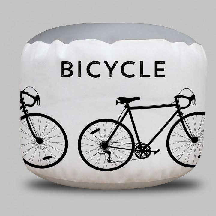 Bicycle Round Pouf Ottoman