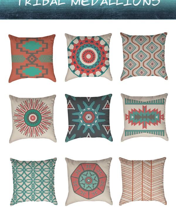 Tribal Medallion Pillows