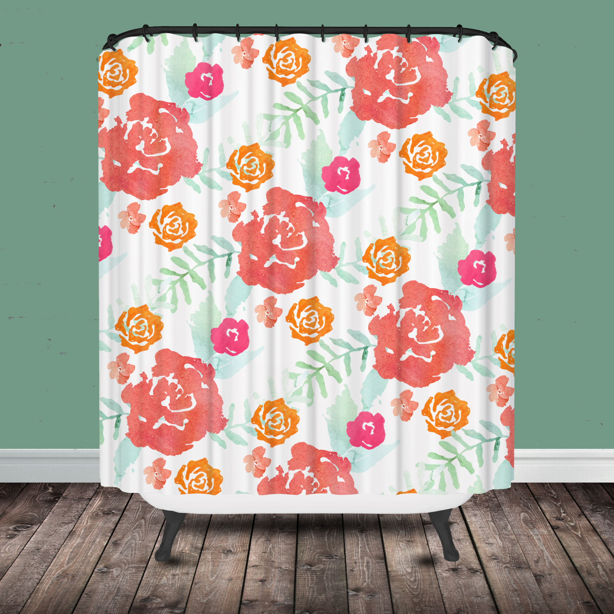 lavender floral shower curtain -  floral shower curtain modern chintz