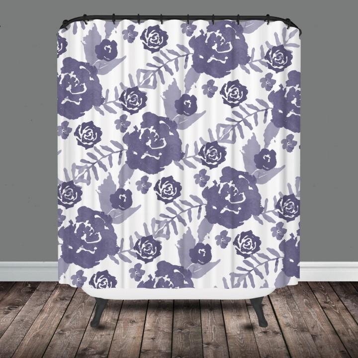 lavender floral shower curtain