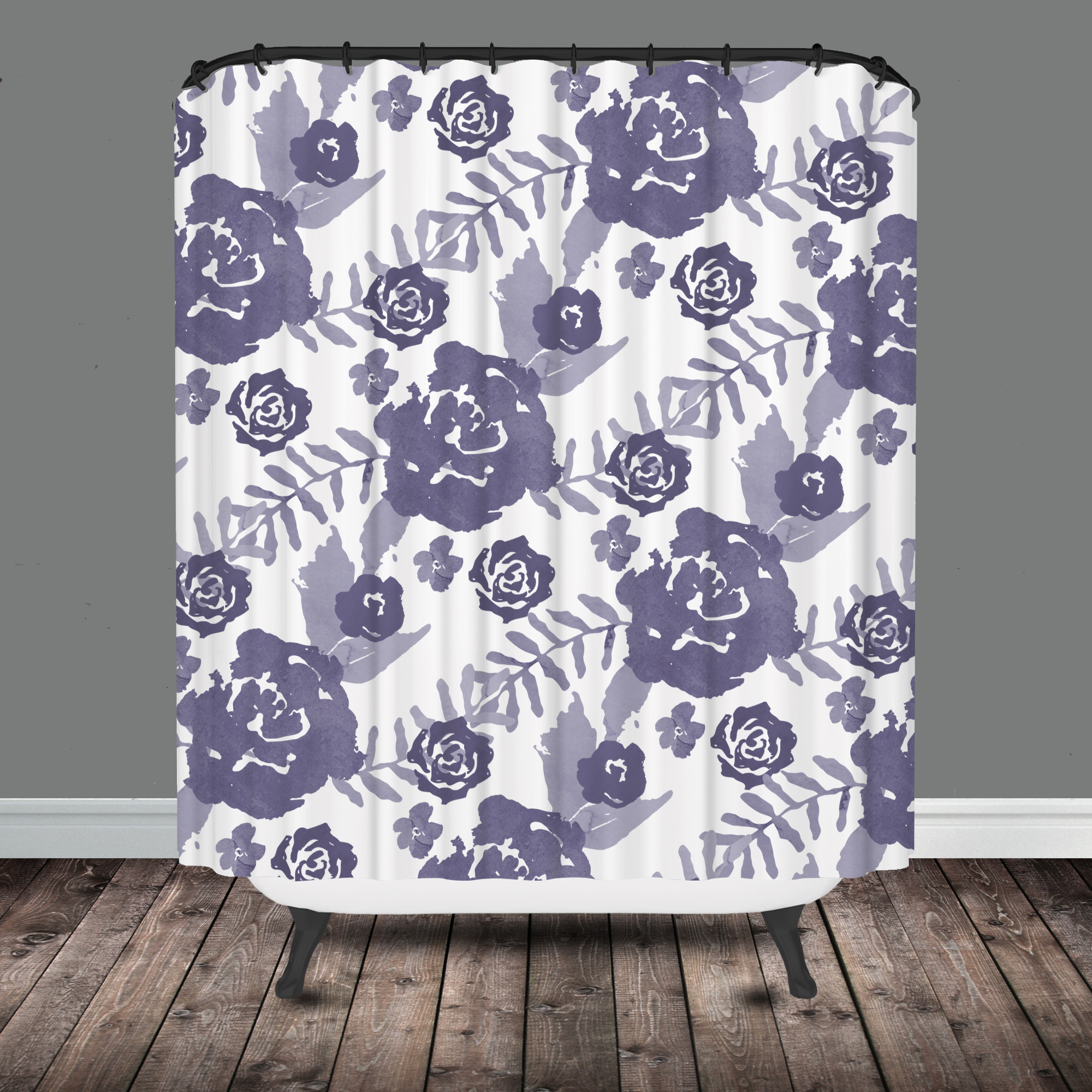 curtains most dark bathroom purple square glass rod striped window picking curtain clawfoot pattern and grey transparent support shower unique bathtub ceiling metal fabric two